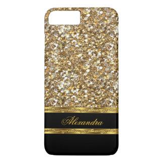 Elegant Black and Gold Glitter iPhone 8 Plus/7 Plus Case