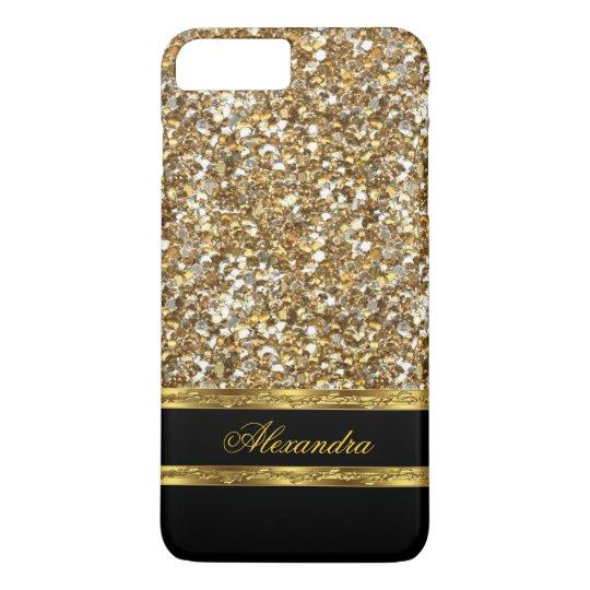 Elegant Black and Gold Glitter iPhone 8 Plus/7