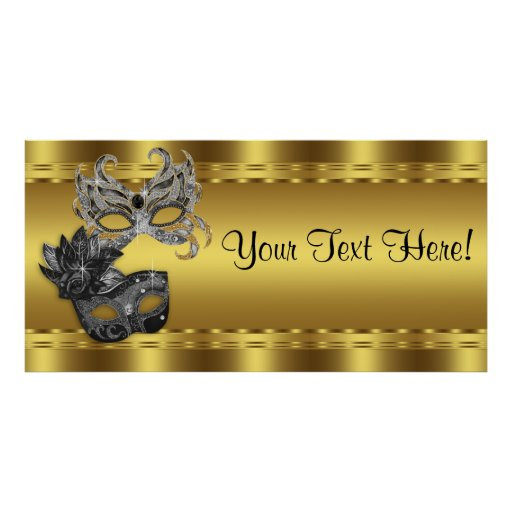 Elegant Black and Gold Masquerade Party Banner Poster