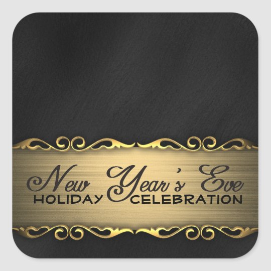Elegant Black and Gold New Year's Eve Party