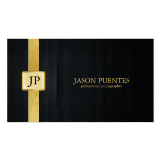 Elegant Black and Gold Professional Photographer Pack Of Standard Business Cards