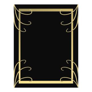 Elegant Black and Gold Swirl 21.5 Cm X 28 Cm Flyer