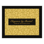 Elegant Black And Gold Tones Glitter & Sparkles 11.5 Cm X 14 Cm Flyer