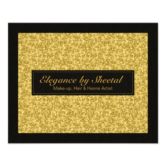 Elegant Black And Gold Tones Glitter & Sparkles