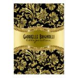 Elegant Black And Gold Vintage Damasks 4 Pack Of Chubby Business Cards