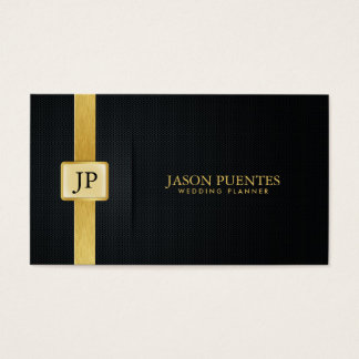 Elegant Black and Gold Wedding Planner