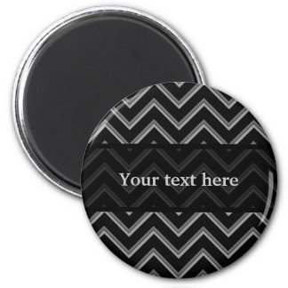Elegant black and gray chevron pattern magnet