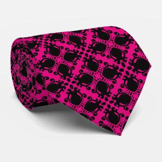 Elegant black and hot pink tie