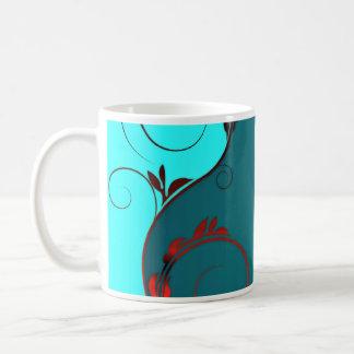 Elegant Black and Reddish swirls Coffee Mugs