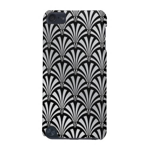 Elegant Black and Silver Art Deco iPod Touch 5G Case