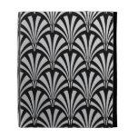 Elegant Black and Silver Art Deco iPad Folio Case