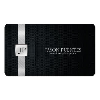 Elegant Black and Silver Professional Photographer Pack Of Standard Business Cards