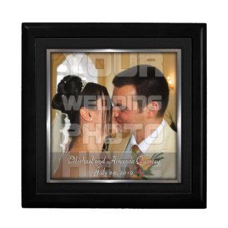 Elegant Black and Silver Wedding Photo Gift Box