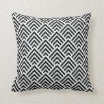 Elegant Black and White Chevron Geometric Pattern Pillows