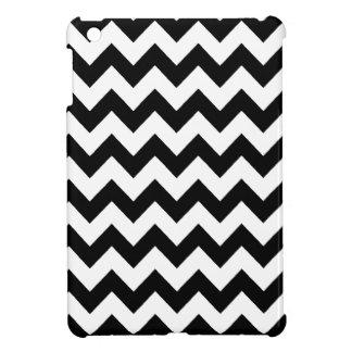 elegant black and white chevron stripes iPad mini cases