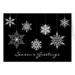 Elegant Black and White Christmas Card