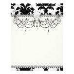 elegant black and white damask 21.5 cm x 28 cm flyer