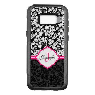 Elegant Black And White Damask OtterBox Commuter Samsung Galaxy S8+ Case