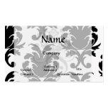 elegant black and white damask pack of standard business cards