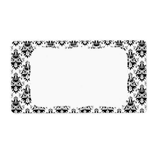 Elegant Black and White Damask Pattern