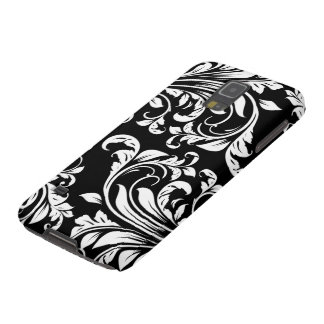 Elegant Black and white floral damask Galaxy S5 Covers