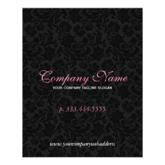 Elegant Black And White Floral Damasks 2 Flyer