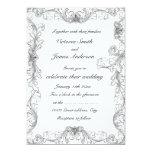 Elegant black and white frame wedding inviations 13 cm x 18 cm invitation card