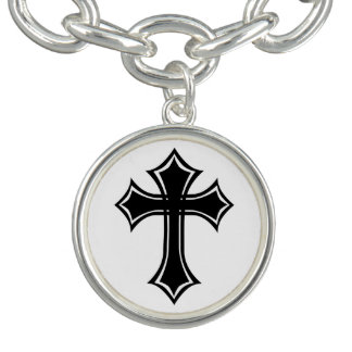 Elegant Black and White Gothic Cross