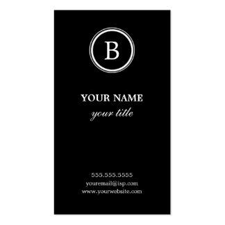 Elegant Black and White Monogram Business Cards