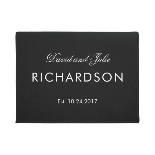 Elegant Black and White Names and Wedding Date