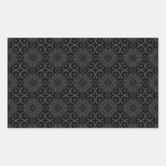 Elegant Black and White Pattern Rectangular Stickers