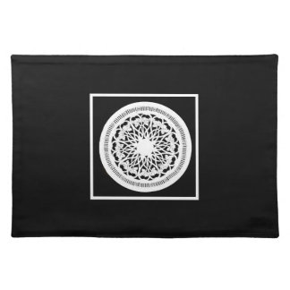 Elegant Black and White placemat Cloth Place Mat
