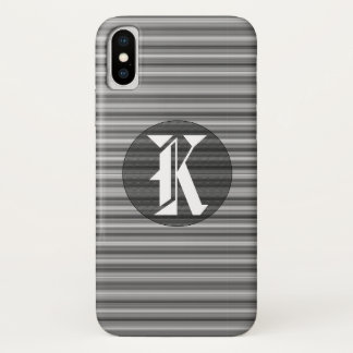 Elegant Black and White Striped iPhone X Case