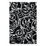 Elegant Black and White Vintage  Damask Pattern Personalised Stationery