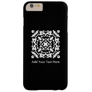 Elegant Black and White Vintage Decorative Barely There iPhone 6 Plus Case