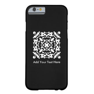 Elegant Black and White Vintage Decorative Barely There iPhone 6 Case