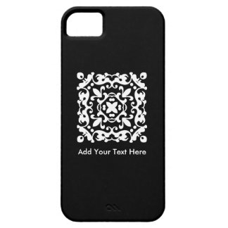Elegant Black and White Vintage Decorative iPhone 5 Case