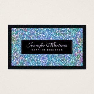 Elegant Black Blue-Green Glitter & Sparkles