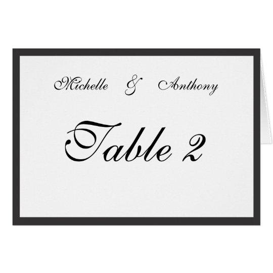 Elegant Black Border Reception Table Card