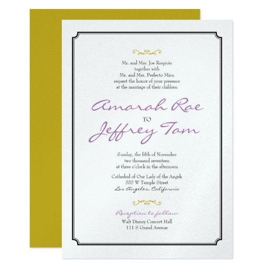 Elegant Black Border Wedding Invite