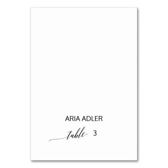 Elegant Black Calligraphy Escort Place Cards
