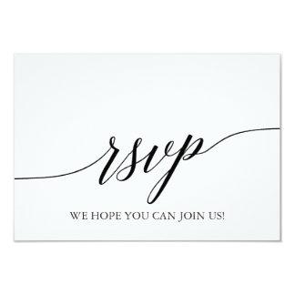 Elegant Black Calligraphy Song Request RSVP Card