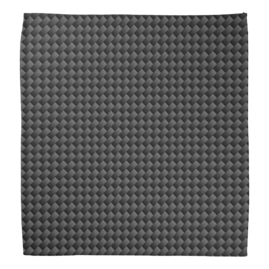 Elegant Black Carbon Fibre Style Print Background Bandana