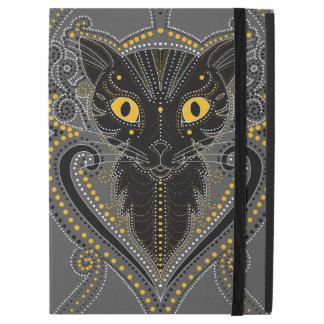 Elegant black cat iPad Pro cover