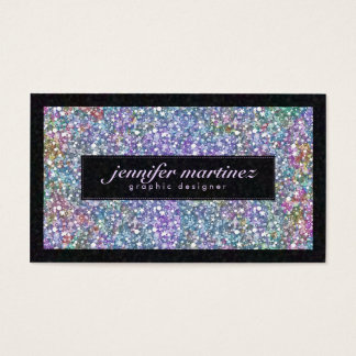 Elegant Black & Colorful Purple Glitter & Sparkles