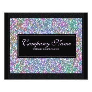 Elegant Black Colorful Purple Glitter & Sparkles 2 Flyer