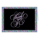 Elegant Black Colourful Purple Glitter & Sparkles