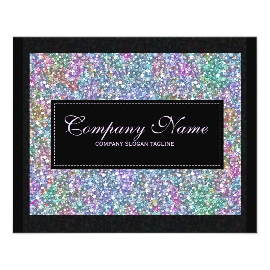 Elegant Black Colourful Purple Glitter & Sparkles 11.5