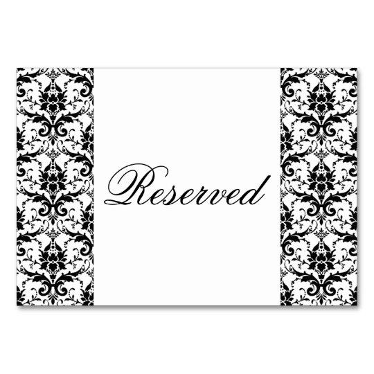 Elegant Black Damask Pattern Wedding Special Event Card