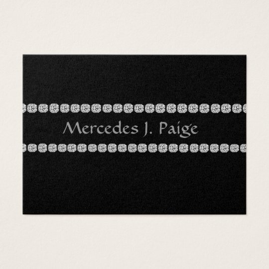 ELEGANT BLACK DIAMOND FAUX Business Card